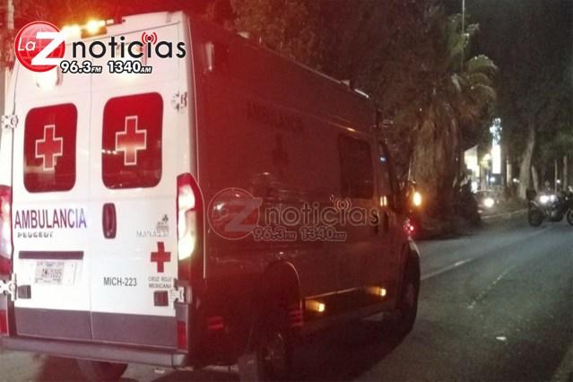 Motociclista sufre accidente en la Av. Madero de Morelia