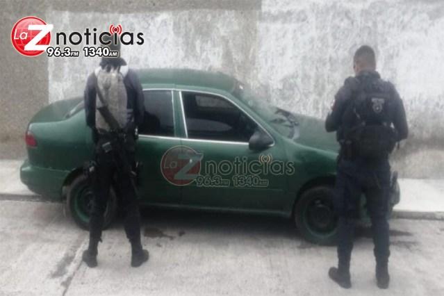 En Morelia, asegura SSP vehículo con reporte de robo