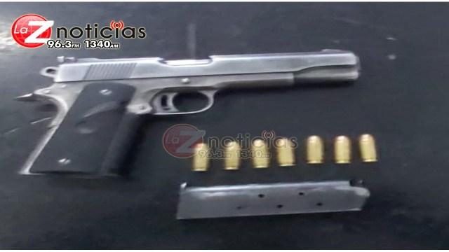 En Zamora, aseguran SSP, SEDENA y Policía Municipal a dos personas posesión de un arma y cartuchos