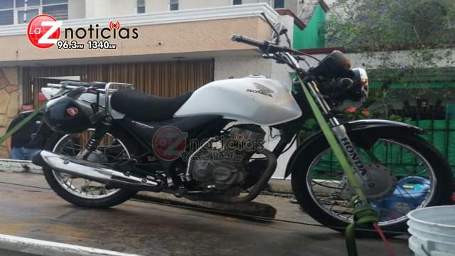 Asegura SSP motocicleta con reporte de robo