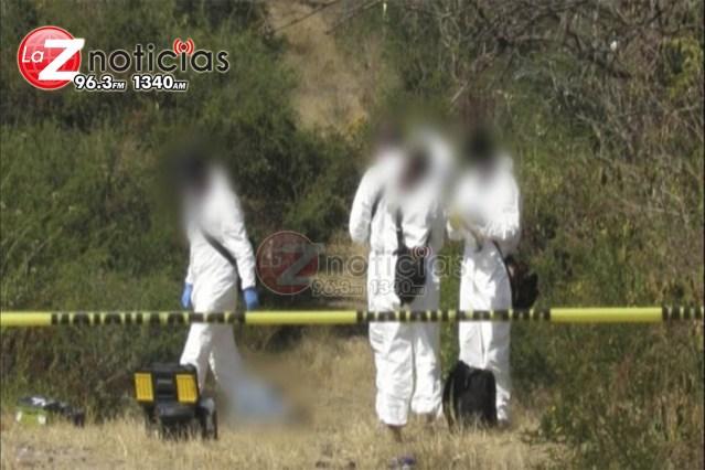 Localizan cadáver en paraje de Santa Ana Maya