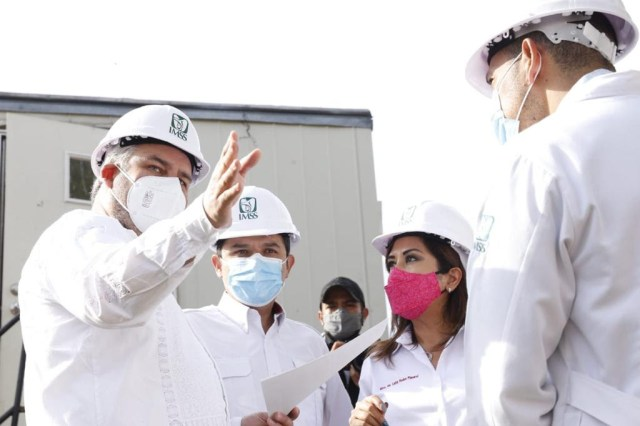 Gobernador revisa con Zoé Robledo predios para trasladar oficinas del IMSS a Morelia