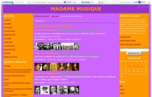 madame musique blog