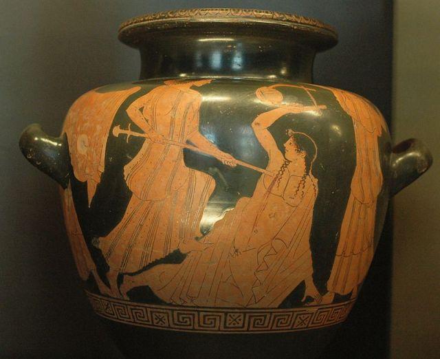Mort d'Orphée. exposé au Louvre