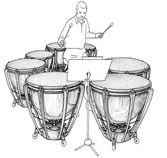 timbales joueur dessin
