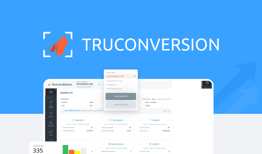 TruConversion Lifetime Deal & Review - Alternative To HotJar and Funnelytics?