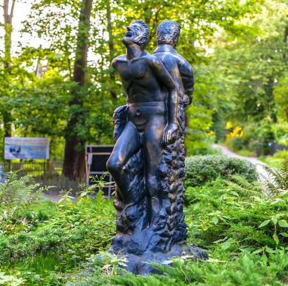 Monument to E T A Hoffman Duality of the Inner World by Sculptor Sergey Usachev