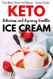the best keto vanilla Ice cream recipe