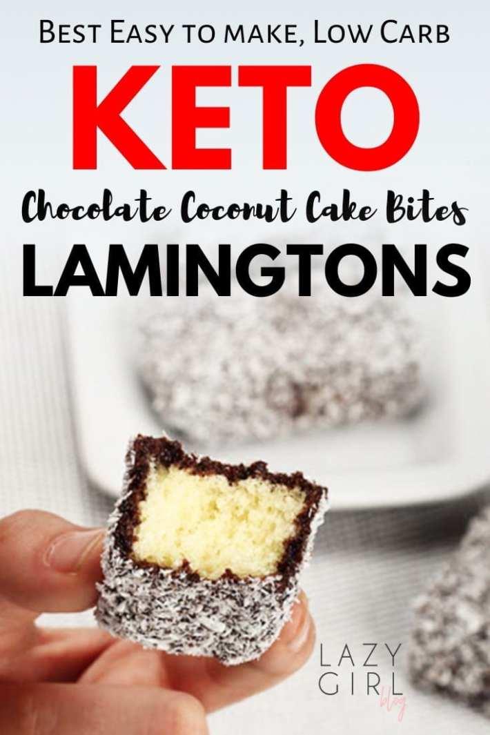 Best Low Carb Chocolate Coconut Cake Bites - Keto Lamingtons