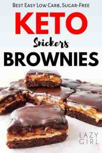 Best Low Carb Keto Snickers Brownies.