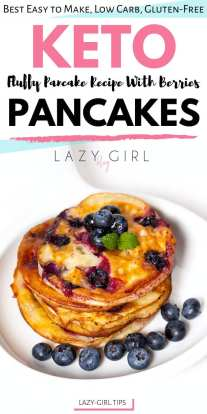 Fluffy Keto Pancakes With Berries