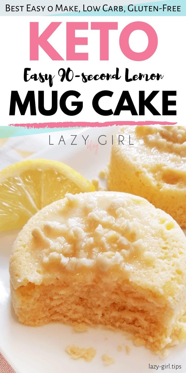 Easy 90-second Keto Lemon Mug Cake 1