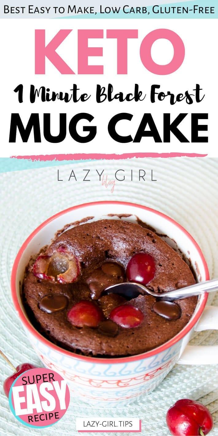 1 Minute Black Forest Keto Mug Cake