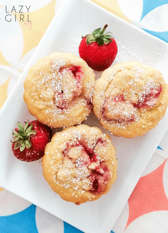 Keto Coconut Strawberry Muffins