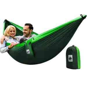 4in1 Double Camping Hammock With Straps Green