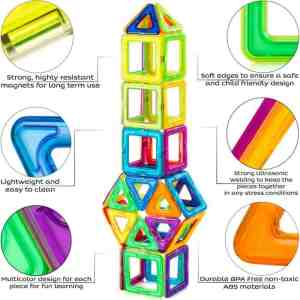 Magnetic Blocks Building Tiles Set For Kids Specifications