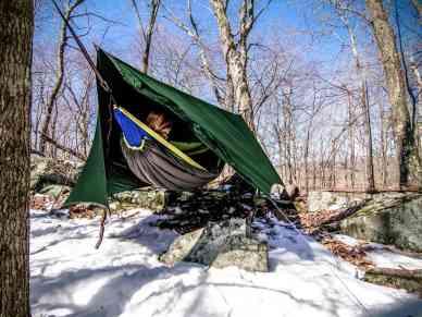 hammock camping winter