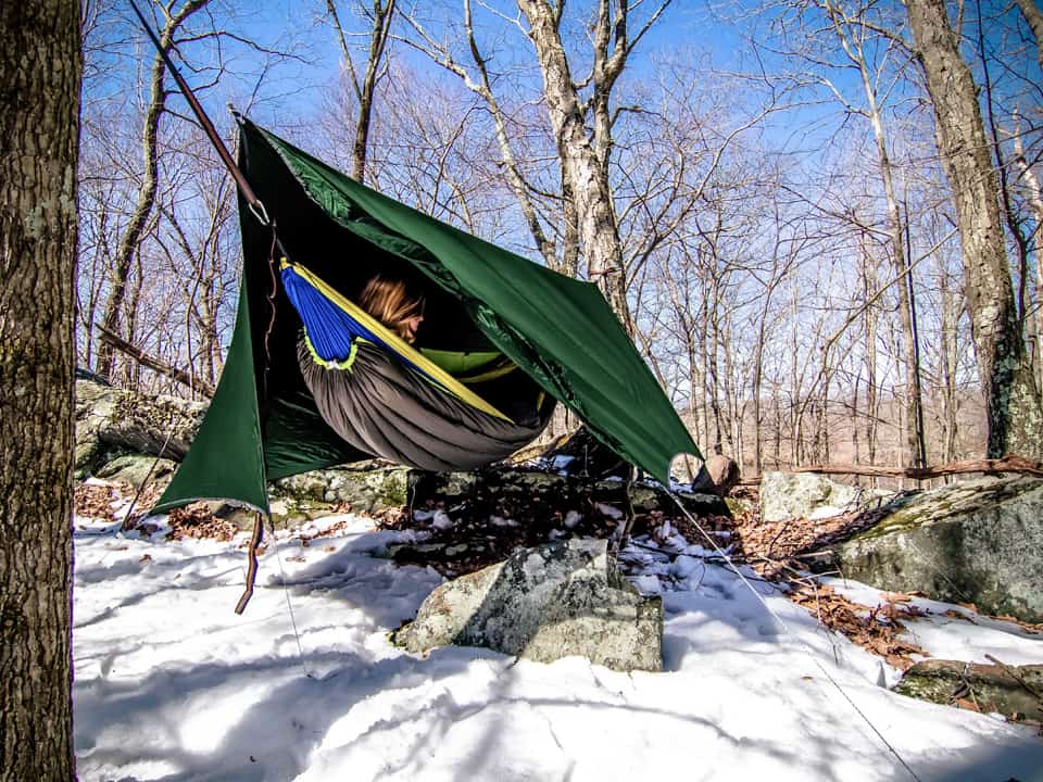 hammock camping for winter, summer, spring or fall
