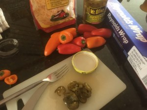 Sweet peppers and stuffing