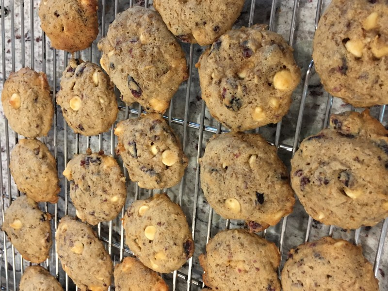 Spent Grain White Chocolate Chip Cranberry Cookies