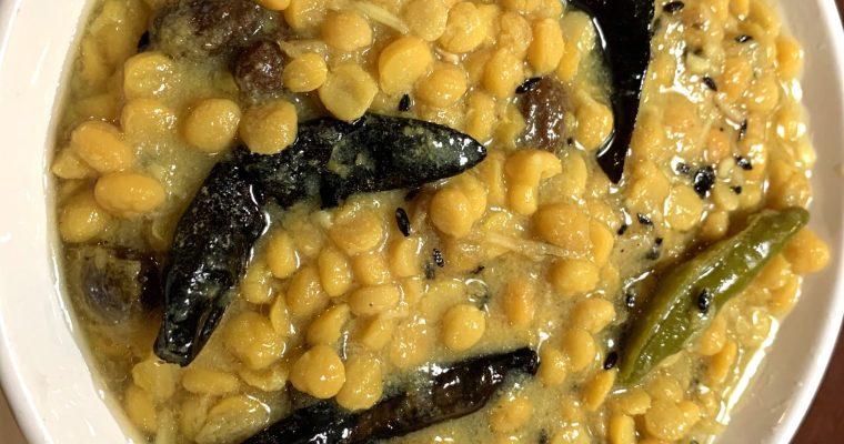 Bengali Style Chana Dal (Cholar Dal/ Split Chickpeas Lentils)