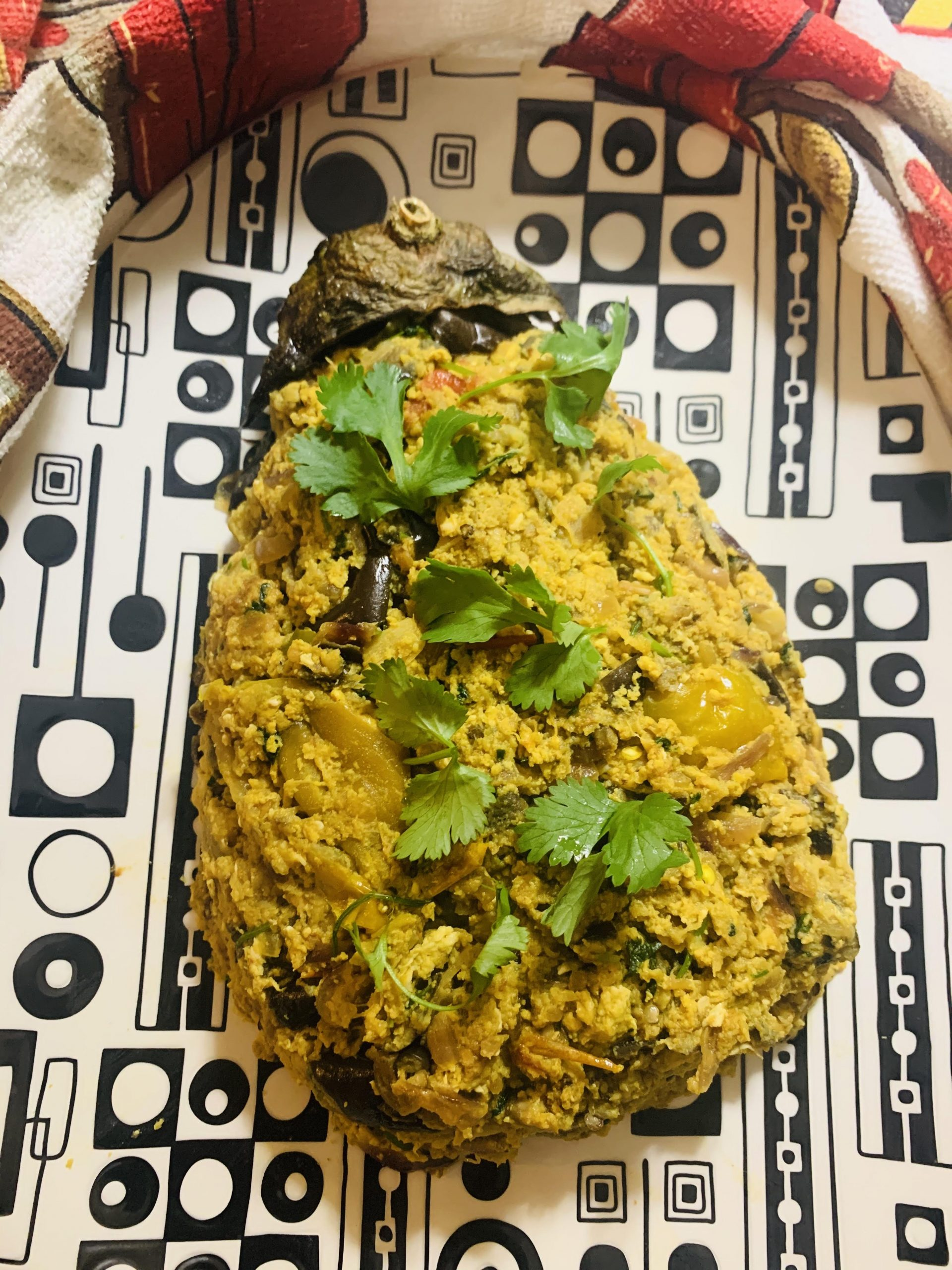 Roasted Eggplant with Eggs
