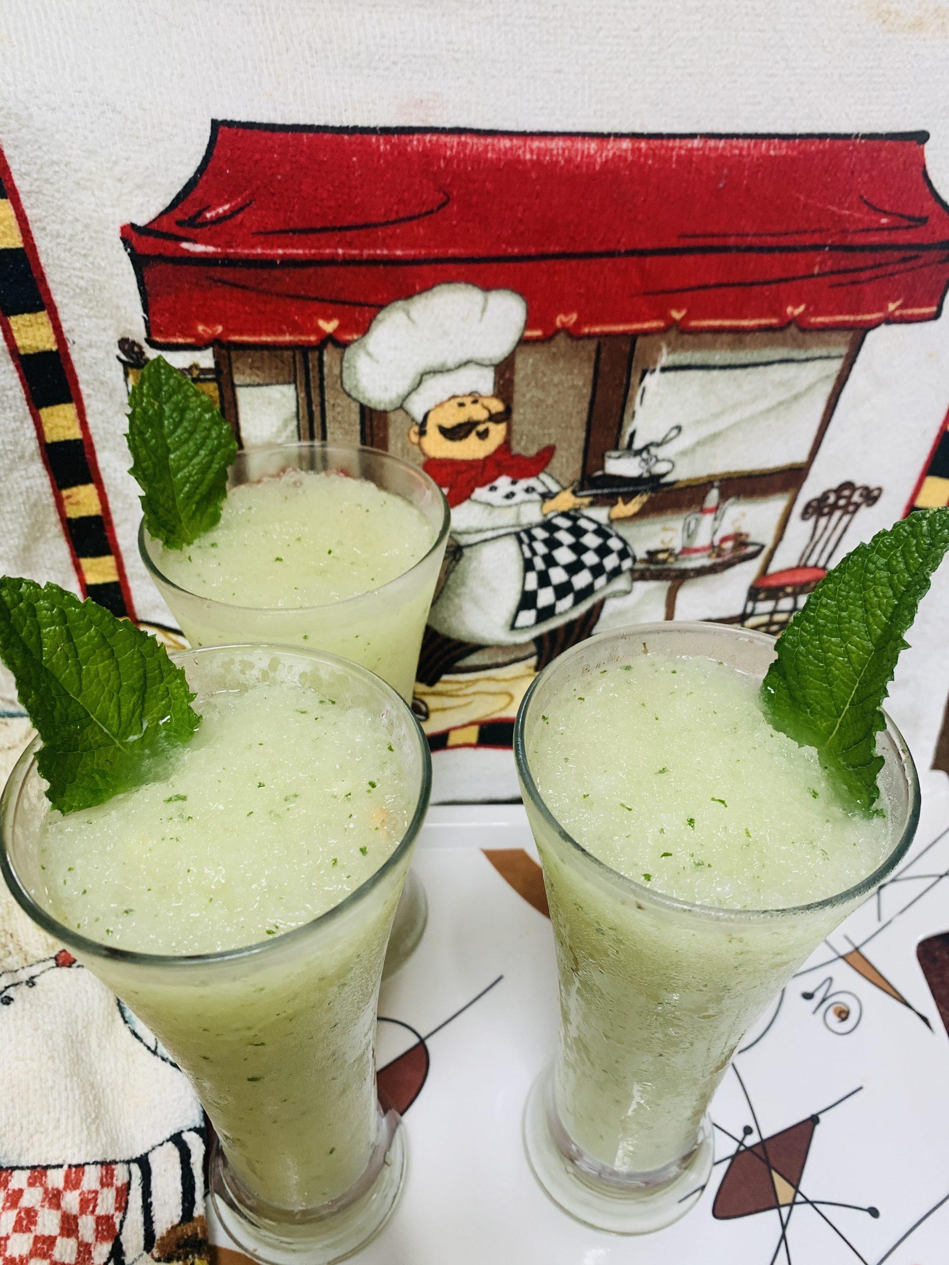 Mint-Lemon Slushy/Shaved Ice