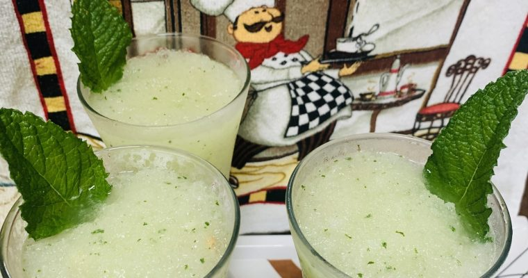 Mint-Lemon Slushy/Shaved Ice