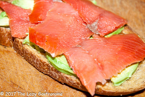 Lox aren't just for cream cheese and bagels! How about adding it to toast with avocado? A healthy breakfast on the run or as a part of a great brunch!