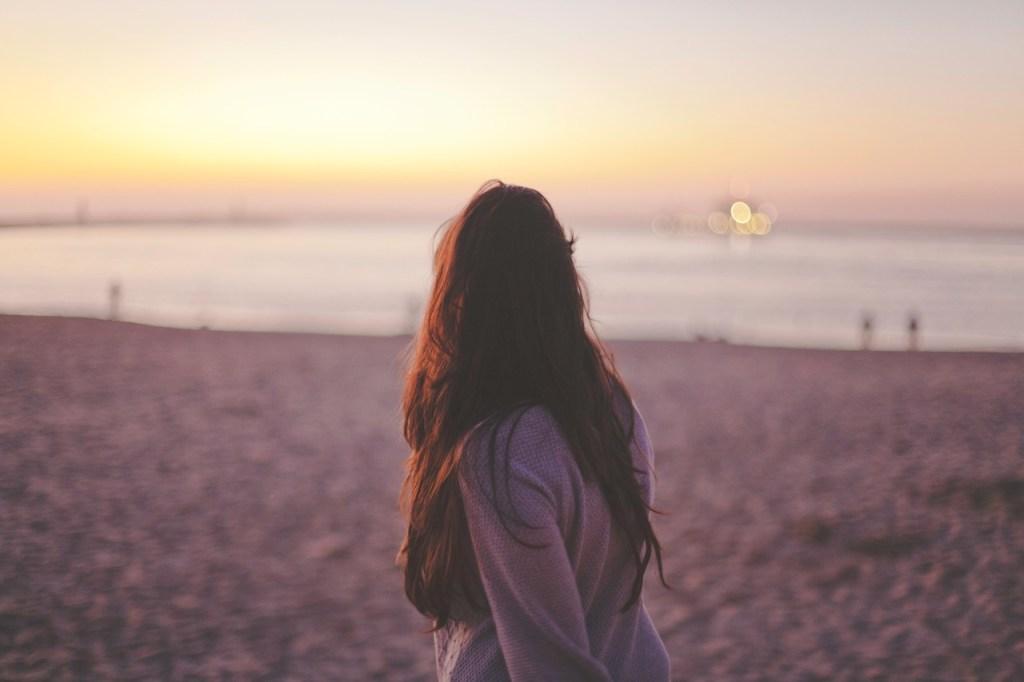 alone on beach