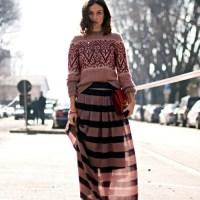 Comment porter une jupe longue en hiver