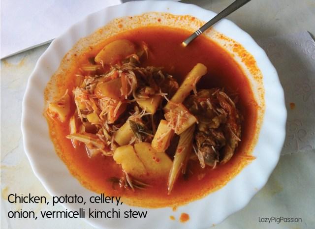 kimchi chicken stew