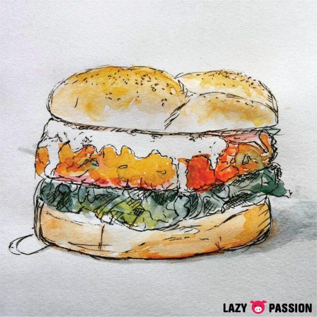 sketch burger lazypigpassion