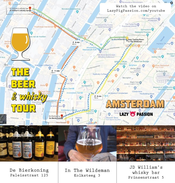 Amsterdam beer whisky map 2018