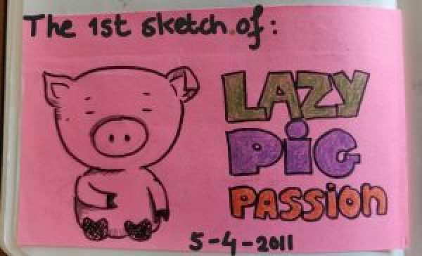 first logo lazypigpassion
