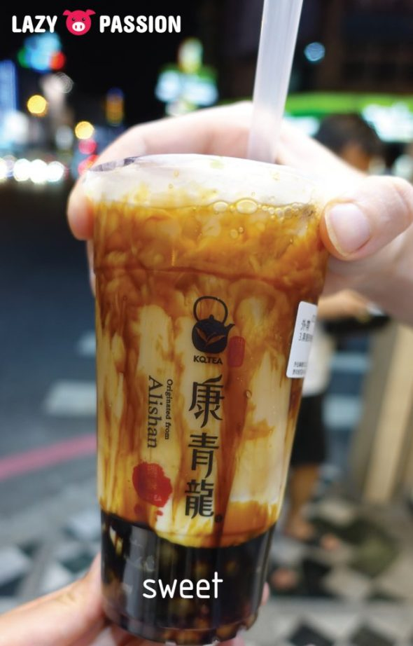 black sugar milk tea Taiwan