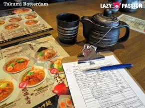 Takumi-Rotteram menu