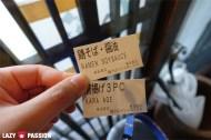 Tickets for ramen