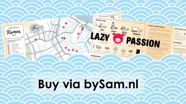 buy Amsterdam ramen map via bySam.nl