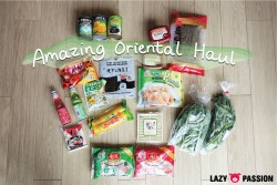 Amazing oriental haul Asian food