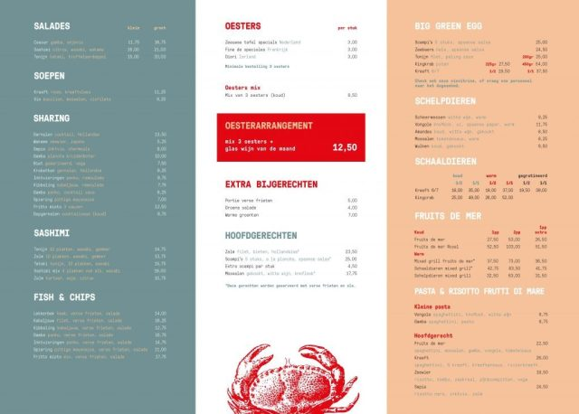 The Fish Market menu 2019