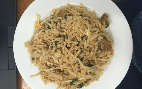 Gluten Free Pad Thai with Smoked Oysters
