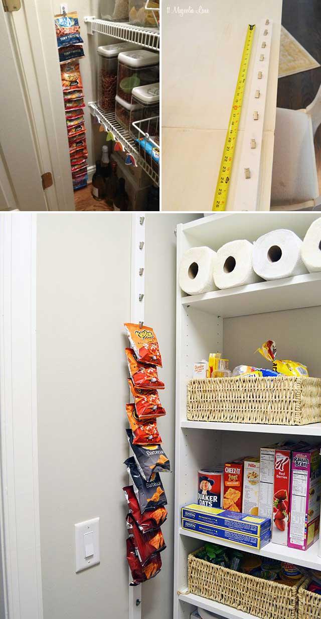 creating hanging pantry storage