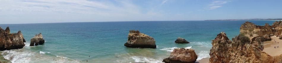Portugalia Algarve plaże obok Lagos Plaja de tres Irmaos