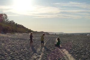 plaża nad Bałtykiem, Chałupy