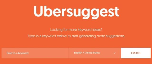 Ubersuggest - tools used in content writing