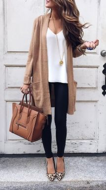 A simple cardigan that can go with almost anything.