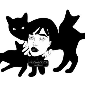 Poster La fille aux chats