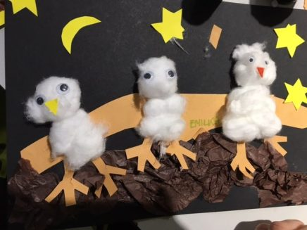 Owl craft at Shepherds Bush Library, January 2017
