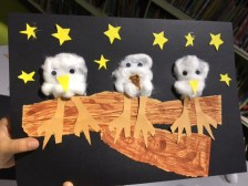 Owl craft at Shepherds Bush Library, January 2017